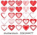 vector hearts set   Shutterstock .eps vector #326144477
