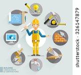 building consultants  ... | Shutterstock .eps vector #326147879