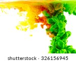 liquid color in motion | Shutterstock . vector #326156945