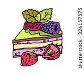 funny piece of cake. | Shutterstock .eps vector #326157575