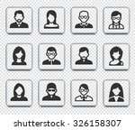 people face set on transparent... | Shutterstock .eps vector #326158307