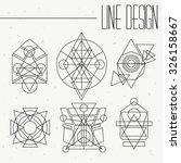 set of geometric shapes. | Shutterstock .eps vector #326158667
