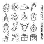 christmas line icons | Shutterstock .eps vector #326162369