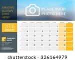 january 2016. desk calendar for ...   Shutterstock .eps vector #326164979
