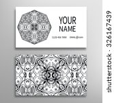 business card with mandala... | Shutterstock .eps vector #326167439