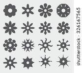 flower icons | Shutterstock .eps vector #326167565