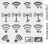 wireless icons | Shutterstock .eps vector #326167817
