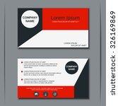 modern business visiting card ... | Shutterstock .eps vector #326169869
