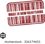 made in new hampshire with... | Shutterstock .eps vector #326174651