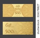 premium voucher template  vector | Shutterstock .eps vector #326178827