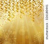 vector illustration of a golden ... | Shutterstock .eps vector #326180441