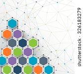illustration vector   molecules ... | Shutterstock .eps vector #326183279