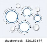 abstract molecules with 3d... | Shutterstock .eps vector #326183699
