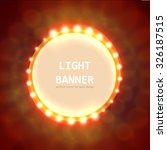 abstract circle light banner... | Shutterstock .eps vector #326187515