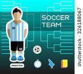 soccer team   argentina....   Shutterstock .eps vector #326188067