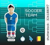 soccer team   slovakia....   Shutterstock .eps vector #326188097
