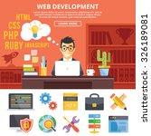 web development flat... | Shutterstock . vector #326189081