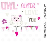 Owl Always Love You Vector...