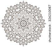 ethnic fractal mandala vector...   Shutterstock .eps vector #326210087