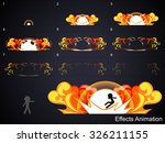explode effect animation 2.can... | Shutterstock .eps vector #326211155