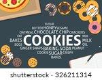 vector cookies concept template | Shutterstock .eps vector #326211314