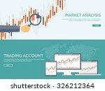 stock market analysis finance... | Shutterstock .eps vector #326212364