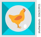 hen icon | Shutterstock .eps vector #326213921