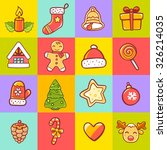 vector illustration of set of... | Shutterstock .eps vector #326214035