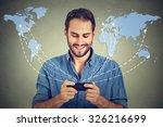 modern communication technology ... | Shutterstock . vector #326216699