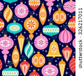 bright christmas pattern with... | Shutterstock .eps vector #326217011