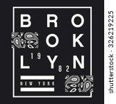 brooklyn bandana typography  t... | Shutterstock .eps vector #326219225
