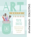 art party invitation template | Shutterstock .eps vector #326219561