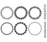 vector black round frames on...   Shutterstock .eps vector #326222711