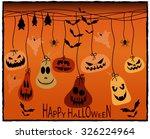 halloween greeting card. vector ...   Shutterstock .eps vector #326224964