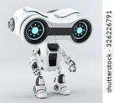 unusual look see robot big blue ... | Shutterstock . vector #326226791