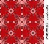 christmas seamless knitted... | Shutterstock .eps vector #326232359