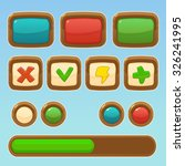 game cartoon colorful buttons