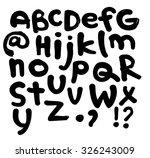 abc  brush font   Shutterstock .eps vector #326243009
