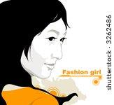 fashion girl | Shutterstock .eps vector #3262486