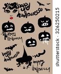 happy halloween  vector... | Shutterstock .eps vector #326250215