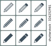 set pencils icons gray color on ... | Shutterstock .eps vector #326252981