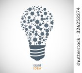 bulb icon on the gray... | Shutterstock .eps vector #326253374