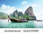 railay beach in krabi thailand | Shutterstock . vector #326253989