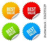 best value stickers | Shutterstock .eps vector #326255129