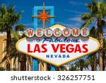 view of the famous welcome sign ... | Shutterstock . vector #326257751