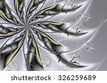Fractal Silver Flower. Abstrac...