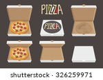 the whole pizza in the opened... | Shutterstock .eps vector #326259971