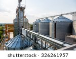 Metal grain elevator in