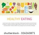 healthy eating banner. healthy... | Shutterstock .eps vector #326263871