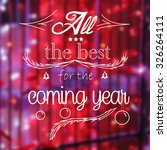 Small photo of All the best for the coming year graphic message text on the photo